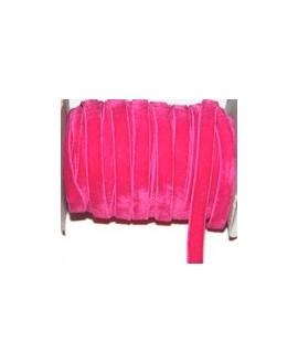 Terciopelo elástico fucsia 10mm, precio por metro