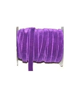 Terciopelo elástico morado 10mm, precio por metro