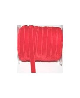 Terciopelo elástico rojo 10mm, precio por metro