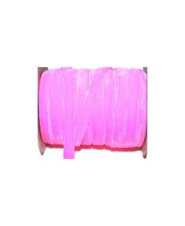 Terciopelo elástico rosa 10mm, precio por metro
