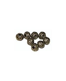 Cuenta bronce 6mm paso 2mm, precio por 100 gramos