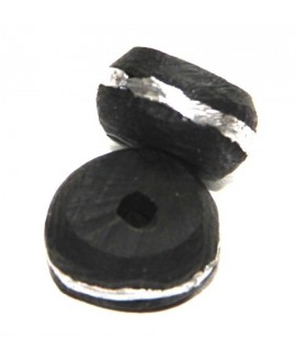 Ébano y plata 15x10mm, paso 2mm