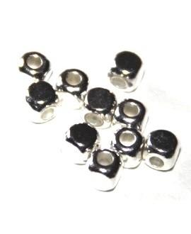 Cuenta mini cuadrada metal, 3mm, paso 1mm, precio por 20 unidades
