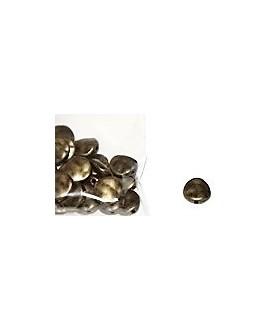 Cuenta metal bronce 12mm paso 1mm, precio por 50gr aprox 25 unidades
