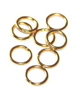 Anilla 15/10 color dorada precio por 50 gramos