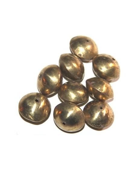 Platillo bronce, 10x20mm de diámetro, paso 1mm, precio por 10 unidades