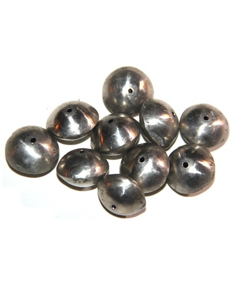 Platillo plata, 10x20mm de diámetro, paso 1mm, precio por 10 unidades