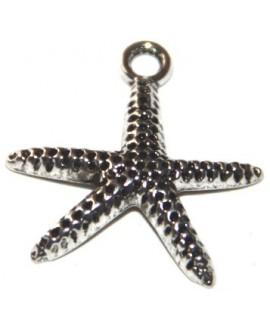 Colgante estrella metal 18mm, paso 2mm