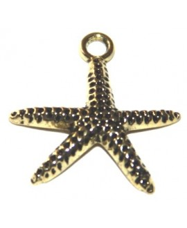 Colgante estrella dorada 18mm, paso 2mm