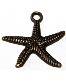 Colgante estrella bronce 20mm, paso 3mm