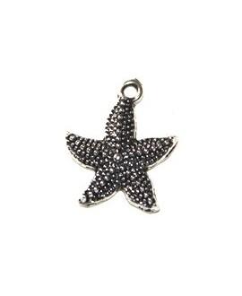 Colgante estrella metal 23x20mm