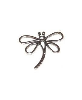 Colgante libélula 30x32mm, metal