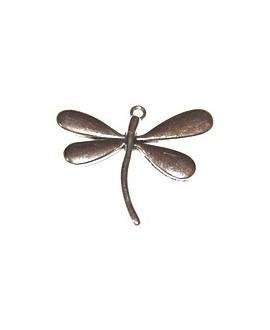 Colgante libélula 50x80mm metal, precio por 8 unidades