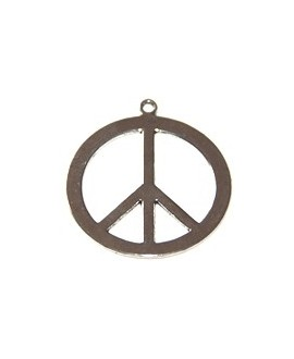 Colgante paz metal 40mm