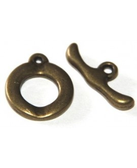 Cierre palo, anilla 20mm, palo 25mm bronce