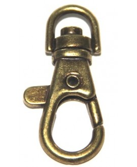 Cierre mosqueton bronce 38mm, metal