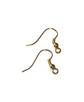 Pendientes hippies dorado, 20 pares