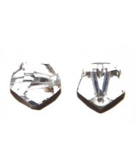 Cuenta 14mm cristal AB desigual, precio por 15 unidades