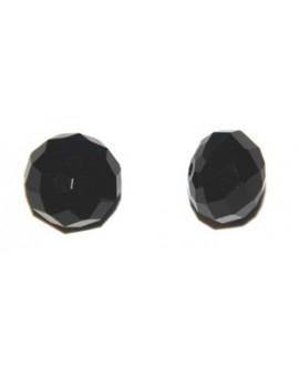 Cuenta ovni SW negro 12mm facetado, precio por 10 unidades