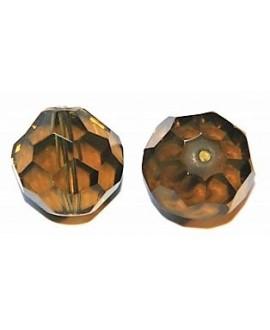 Cuenta cristal facetada oliva 20mm, precio por 6 unidades