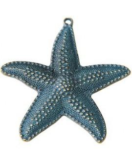 Colgante estrella patinada 65mm