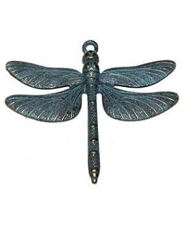 Colgante libélula patinado 60x70mm, precio por 3 unidades