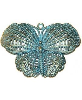 Colgante mariposa patinada 48x68mm, precio por 3 unidades