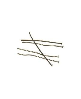 Bastón bronce cabeza plana 40mm, precio por 50 unidades