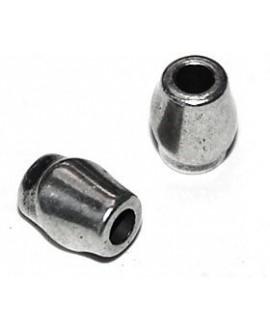 Tubo  9x5mm paso 3mm, precio por 12 unidades, zamak baño de plata