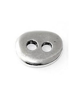 Cierre botón 16mmx12mm paso 3mm, zamak baño de plata
