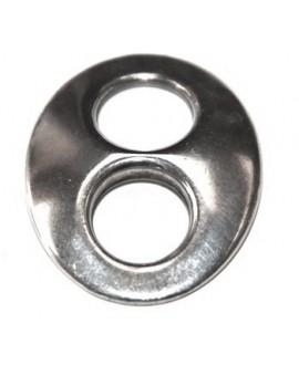 Calabrote 40x32mm, zamak baño de plata, precio por 3 unidades