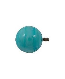 Adorno para pulsera customizable bola irregular 25mm cristal de murano azul con perno
