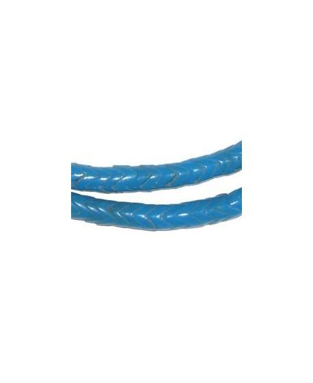Cuentas serpiente  de vidrio turquesa  5mm