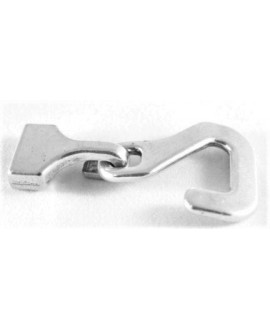 Cierre dos partes 54x28mm, paso 13x2,5mm, zamak baño de plata