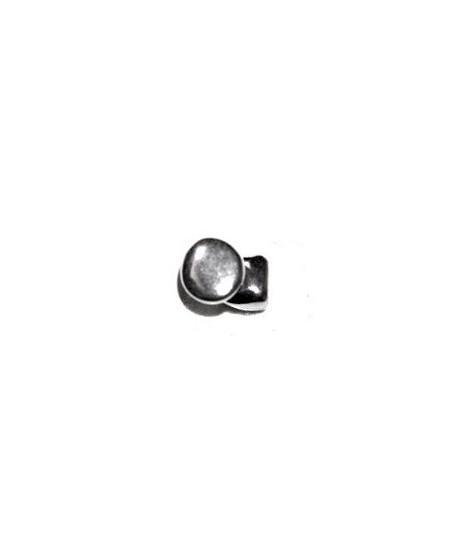 Cierre botón redondo 12mm paso 5x2,5mm, zamak baño de plata