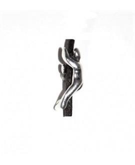 Entre-pieza chico 23mm paso 3mm, zamak baño de plata