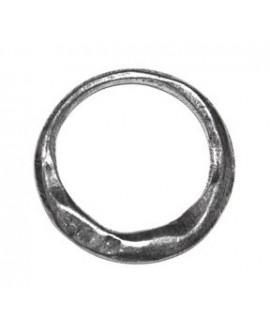 Aro irregular 30mm, zamak baño de plata