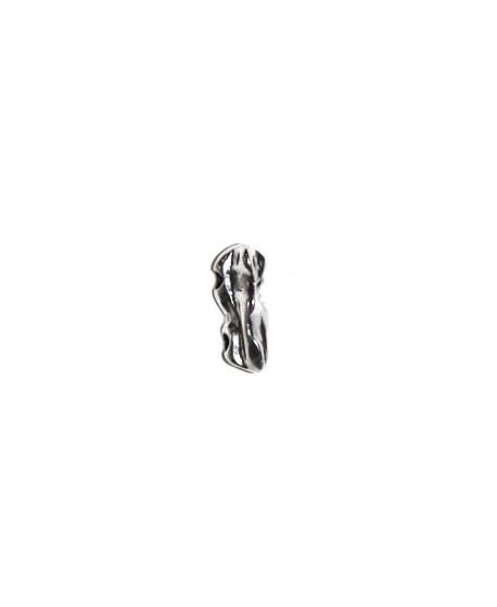 Entre-pieza irregular 20x7mm paso 2mm, zamak baño de plata
