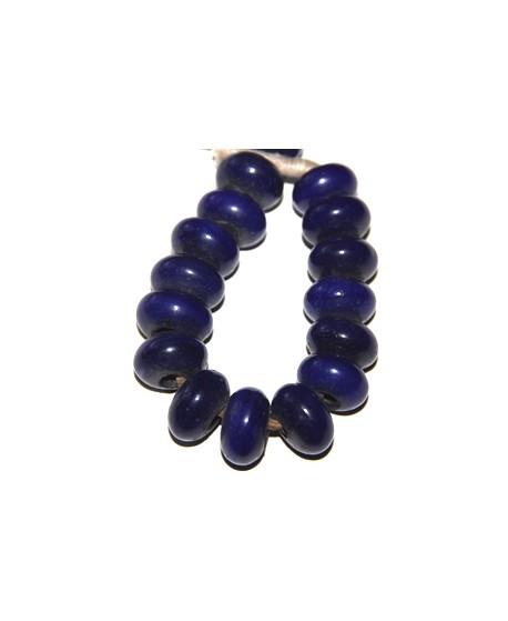 Rondel azulon, 10x18mm, paso 4mm, precio por 1/2 ristra