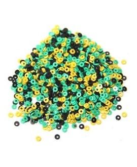Disco de vinilo turquesa, negro y amarillo, 3 mm de paso 0,5mm