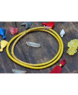 Disco de vinilo amarillo 3-4mm, paso 0,5, ristra de 80cm