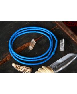 Disco de vinilo azul 3-4mm, paso 0,5, ristra de 80cm