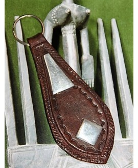 Llavero tallado de Mauritania, 11 cm
