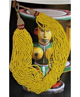 Collar Masai amarillo 29 hilos, 65 cm