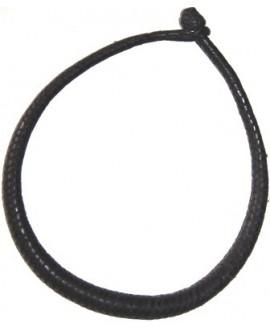 Collar cuero negro, largo 51cm