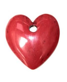 Colgante corazón rojo 78x70mm