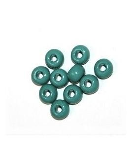Cuenta cristal de murano turquesa 6,70x4,01mm paso 2mm, precio por 25 unidades