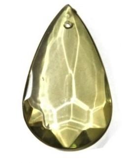 Colgante resina lagrima transparente oliva de 50 x 31, paso 0.8 mm