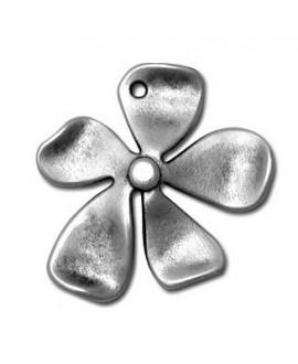 Colgante flor 32x35mm, zamak baño de plata