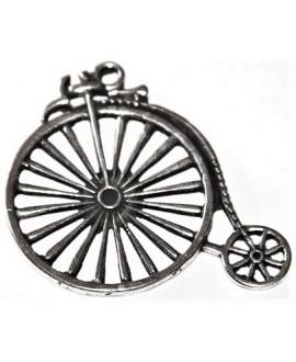 Colgante bicicleta 45x50m, zamak baño de plata